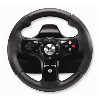 volant logitech drivefx pour les fans de jeux de course. Black Bedroom Furniture Sets. Home Design Ideas