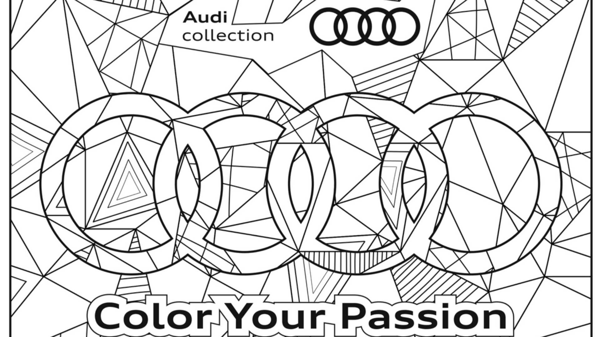 Un Cahier De Coloriage Audi A Telecharger