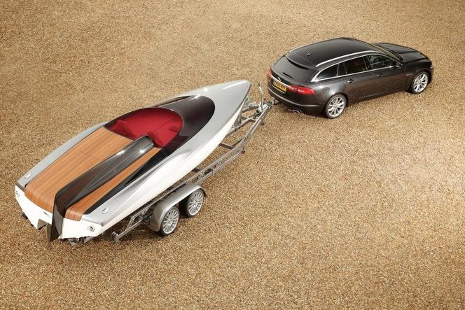 Jaguar promeut sa XF Sportbrake avec un Speedboat