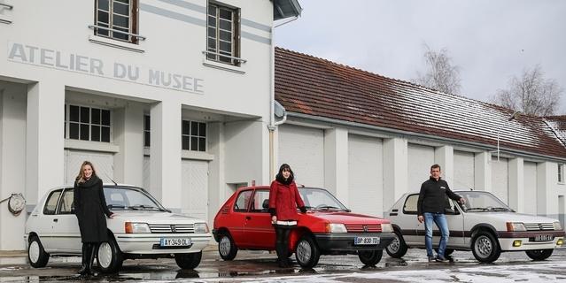 Peugeot nous présente les trois 205 qui ont été restaurées