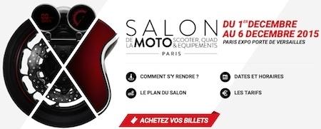 Salon de la Moto, Scooter, Quad, Équipement 2015: du 1er au 6 décembre 2015