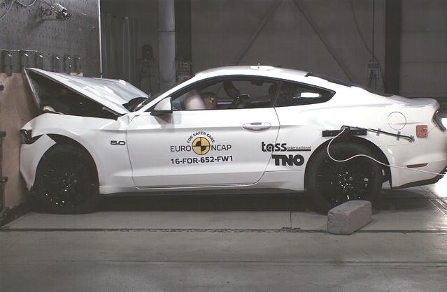Selon les critères Euro NCAP, la Mustang ne protège que médiocrement ses passagers et surtout paie cher ses lacunes en termes d'assistances de sécurité. Mais le constructeur promet de rectifier le tir sur la version restylée.