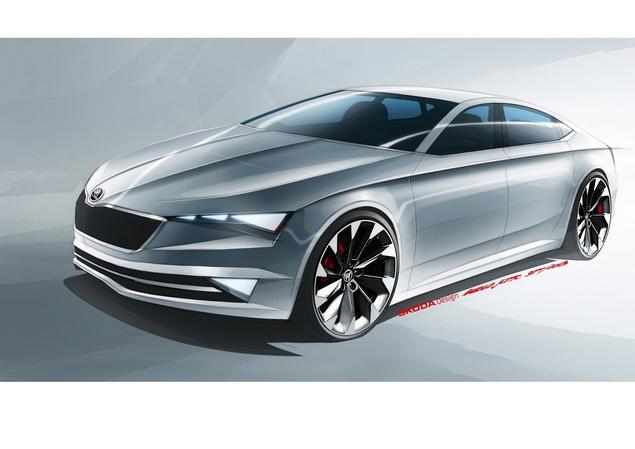 Toutes les nouveautés du salon de Genève 2014 - Skoda VisionC, le coupé cinq portes