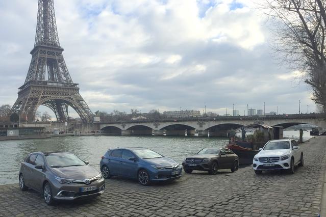 GLC contre GLC, Auris contre Auris, hybride essence contre diesel, et 953 km entre Paris et Monaco pour départager ce petit monde