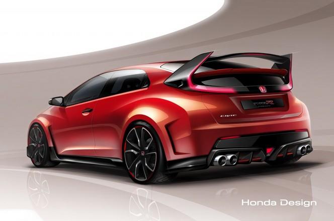 Genève 2014 : Honda Civic Type R concept, pour patienter