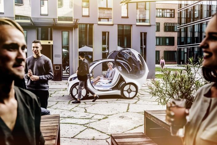 Salon de Francfort 2017 - Smart Fortwo Vision EQ Concept : en ville, sans les mains