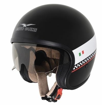Equipement : Moto Guzzi présente ses nouveaux casques jet