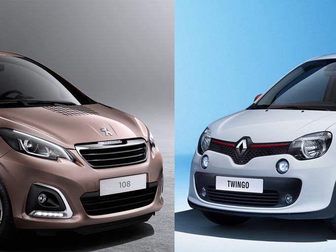 Match anticipé - Nouvelle Peugeot 108 vs. nouvelle Renault Twingo