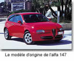 Alfa Romeo 147 Selespeed : belle et sensuelle