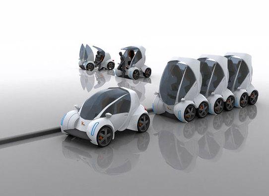 City Car de MIT : un concept-car de voiture citadine, électrique, pliable et empilable !