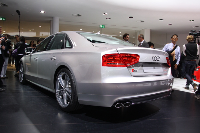 En direct de Francfort : Audi S6, S7 Sportback et S8 avec une A8 Hybrid pour équilibrer