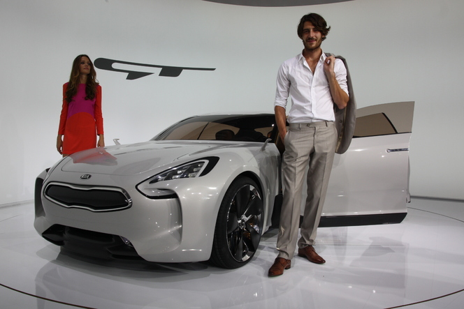 En direct de Francfort- video : Kia GT, un concept car ni électrique, ni hybride !