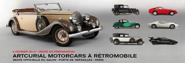 Rétromobile 2013 - La vente aux enchères se prépare