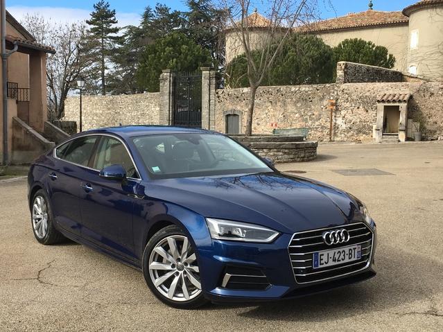 Audi A5 Sportback (2017): les premières images de l'essai en live + premières impressions de conduite