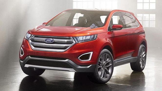 Toutes les nouveautés du salon de Genève 2014 - Ford Edge concept : troisième larron