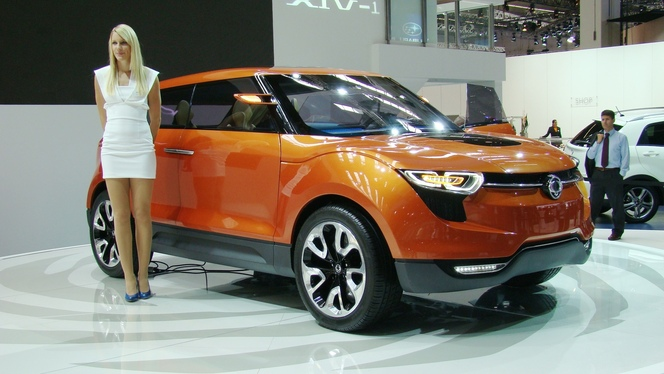 En direct du salon de Francfort : Ssangyong XIV-1 Concept, le Range Evoque asiatique ?