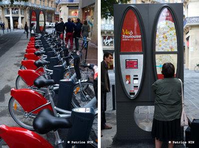 La ville rose a aussi son système de location de vélos en libre-service, VélôToulouse !