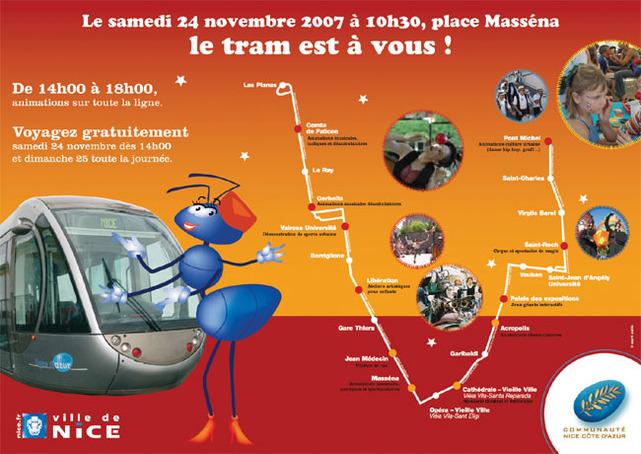 Nice Côte d'Azur : inauguration de son tramway le 24 novembre 2007 !