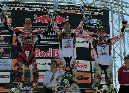 Motocross mondial : Bellpuig; Marvin Musquin met à profit les déboires de ses rivaux