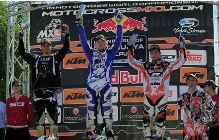 Motocross mondial :  Tanel Leok remporte le GP d'Espagne