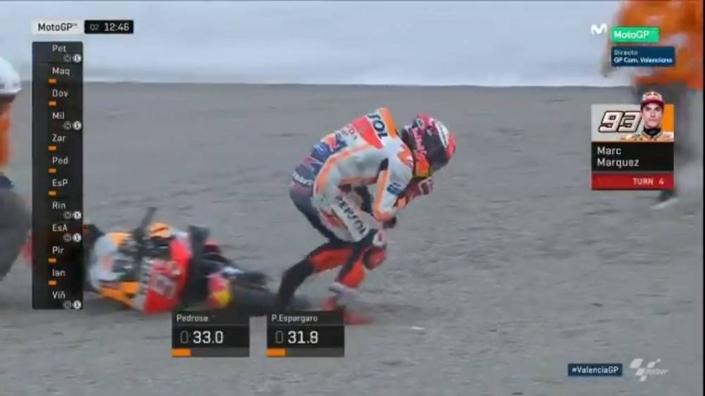 MotoGP - Valence J.2: chute, blessure, mais cinquième pour Marquez!