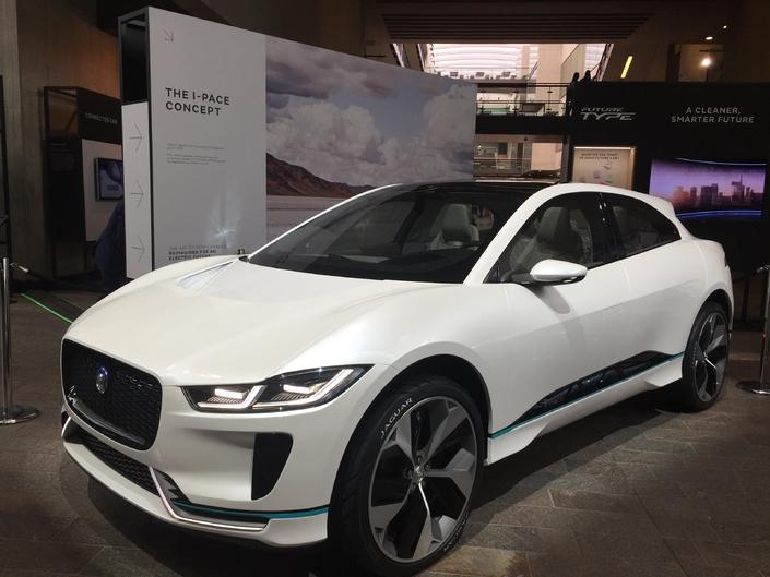 A l'occasion du Tech Fest organisé par Jaguar à Londres, sortie pour le concept i-Pace, un SUV 100 % électrique commercialisé en 2018.