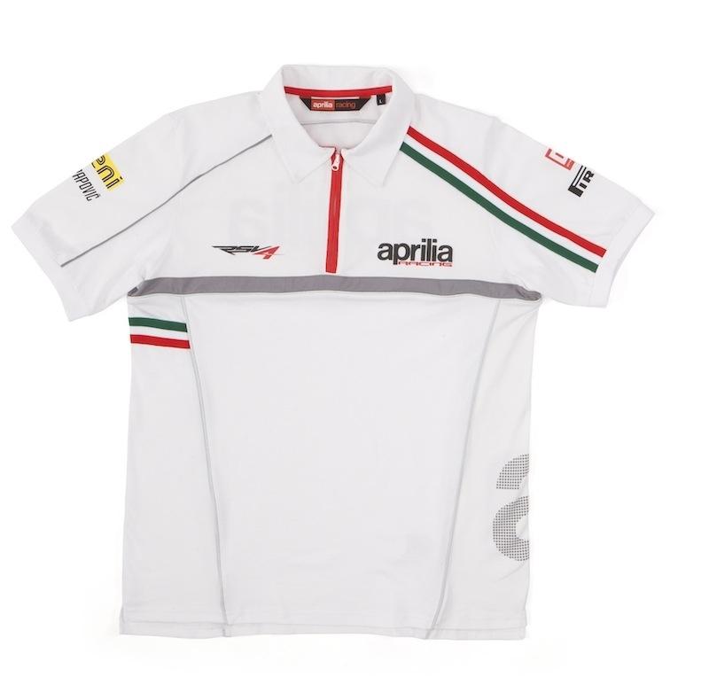 Aprilia : voici le polo paddock Racing 2012