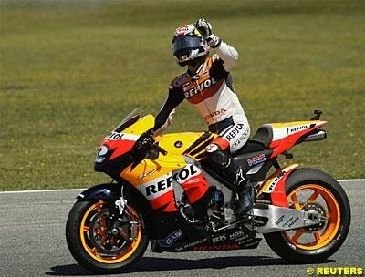 """Moto GP - Espagne Pedrosa: """"Je ne m'attendais pas à gagner si tôt"""""""