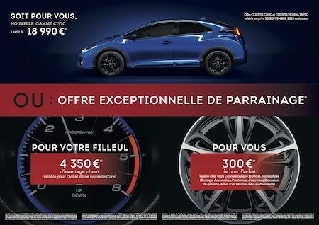 Honda: des offres inédites pour ses clients auto et moto