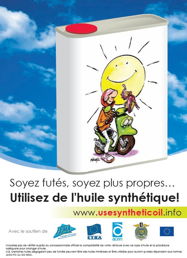 Deux-roues : une campagne en faveur des huiles synthétiques