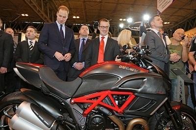 Ducati: le Prince William préfère les Italiennes