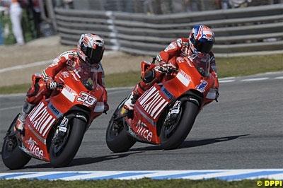 Moto GP - Test Jerez: Lorenzo en tête, Melandri au tapis