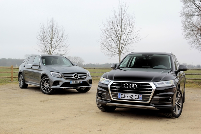 Comparatif vidéo - Audi Q5 vs Mercedes GLC : stars du ring