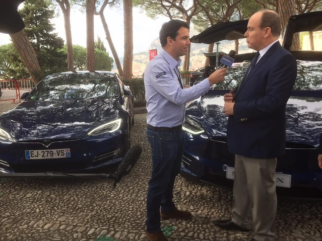 Salon de l'auto Monaco 2017 - interview vidéo exclusive du Prince Albert