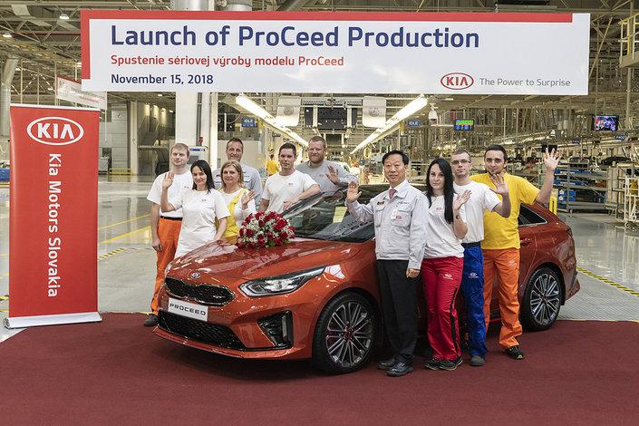 L'usine Kia basée en Slovaquie sort ses premières ProCeed