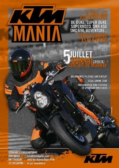KTM Mania 2008 : Seconde édition le 5 juillet