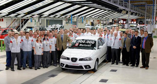 Usine SEAT de Martorell : 6 millions de voitures produites, l'Ibiza EcoMotive à l'honneur !