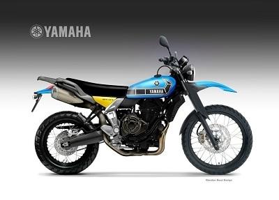 Concept - Yamaha : la résurrection de la SR400 par la MT-07