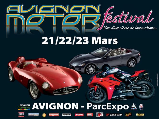 Agenda 21-23 mars : l'Avignon Motors Festival 2014 lancera le centenaire Maserati en Europe !