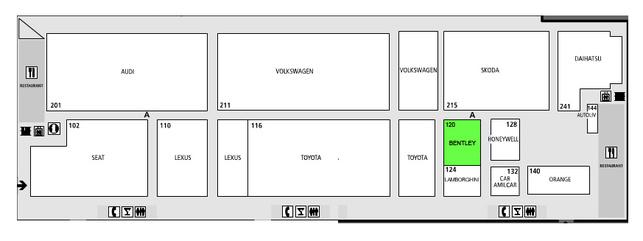 Bentley : hall 4 - Guide des stands