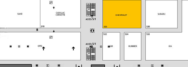 Chevrolet: hall 5-2 - Guide des stands -