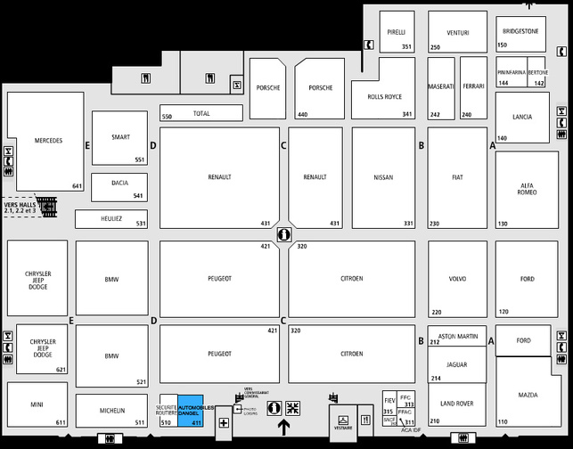 Guide des stands - Dangel : hall 1