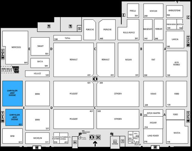 Guide des stands - Dodge: hall 1