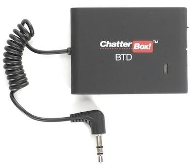 ChatterBox: finis les fils, avec le boîtier adaptateur Bluetooth.