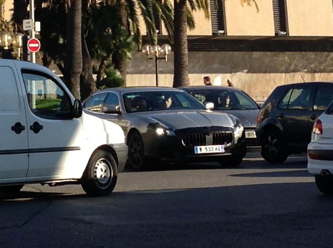 La nouvelle Maserati Quattroporte surprise dans les rues de Nice