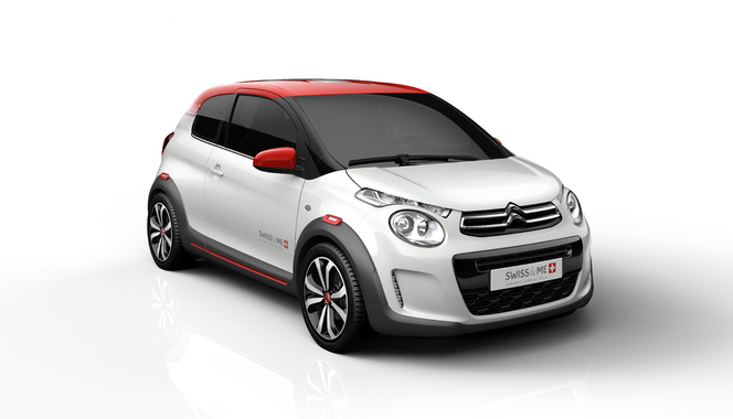Toutes les nouveautés du salon de Genève 2014 - Citroën concept C1 Swiss & Me: craquante!
