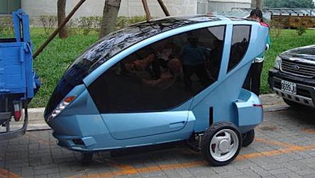 Taïwan : un véhicule électrique pratique en ville !