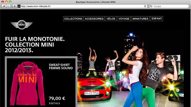 Mini lance son site Internet Mini Lifestyle : la boutique en ligne