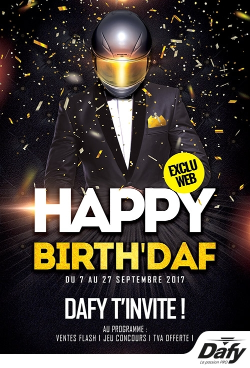 Dafy-Moto: des remises sur le web en septembre pour Happy Birth'Daf