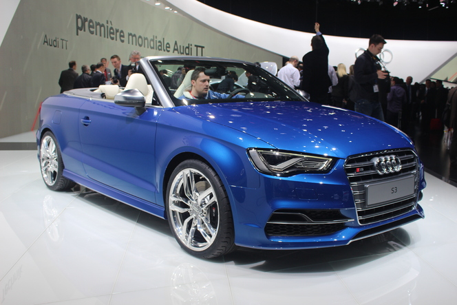 vid o en direct de gen ve 2014 audi s3 cabriolet premi re du nom. Black Bedroom Furniture Sets. Home Design Ideas